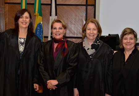 Beatriz Renck, Cleusa Regina Halfen, Ana Luiza Heineck Kruse, e Carmen Izabel Centena Gonzalez